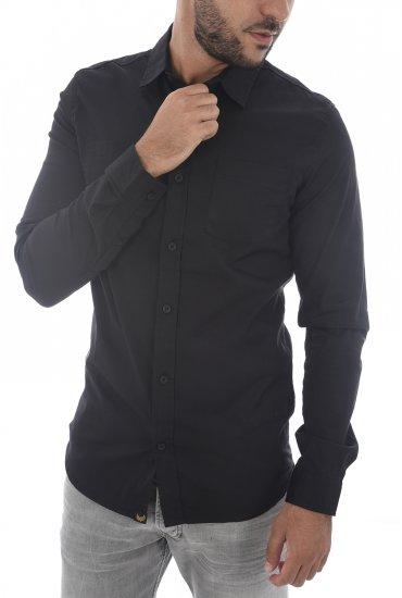 Longues Homme Kaporal H18m42 Black Figo Chemises Manches kXiwuTOPZ