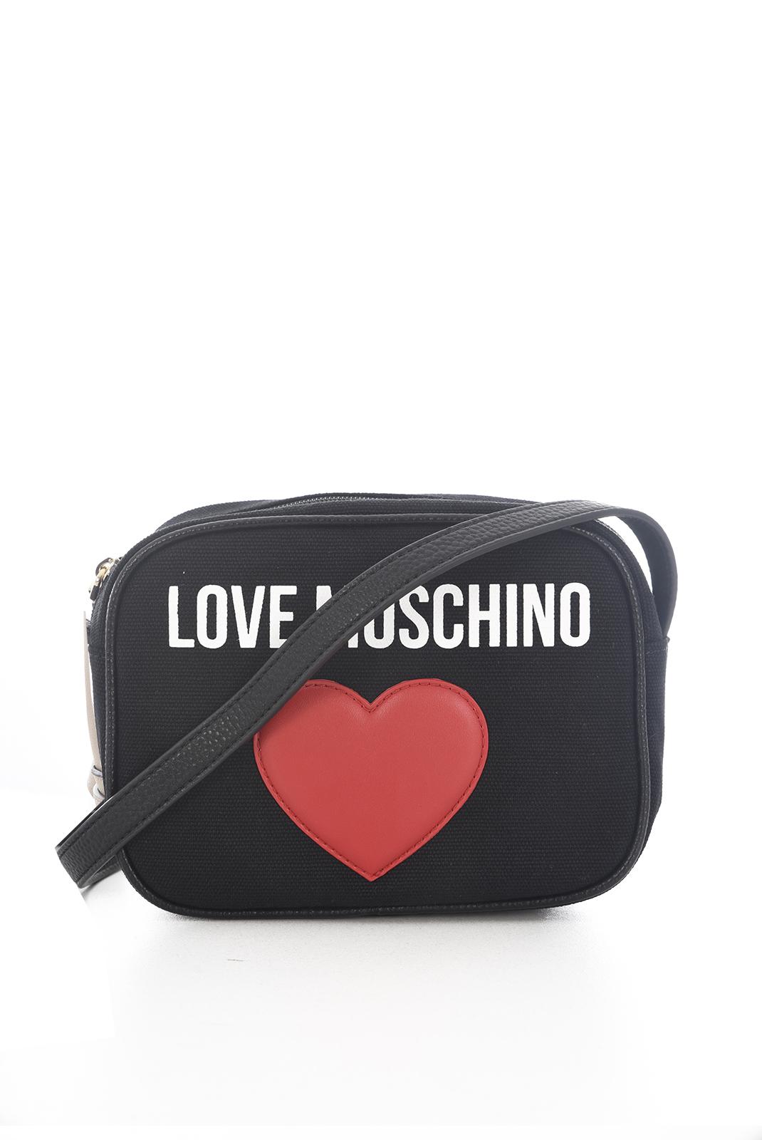 Besaces / Sacs bandoulière  Love moschino JC4138PP15 BORSA CANVAS NERO PEBBLE