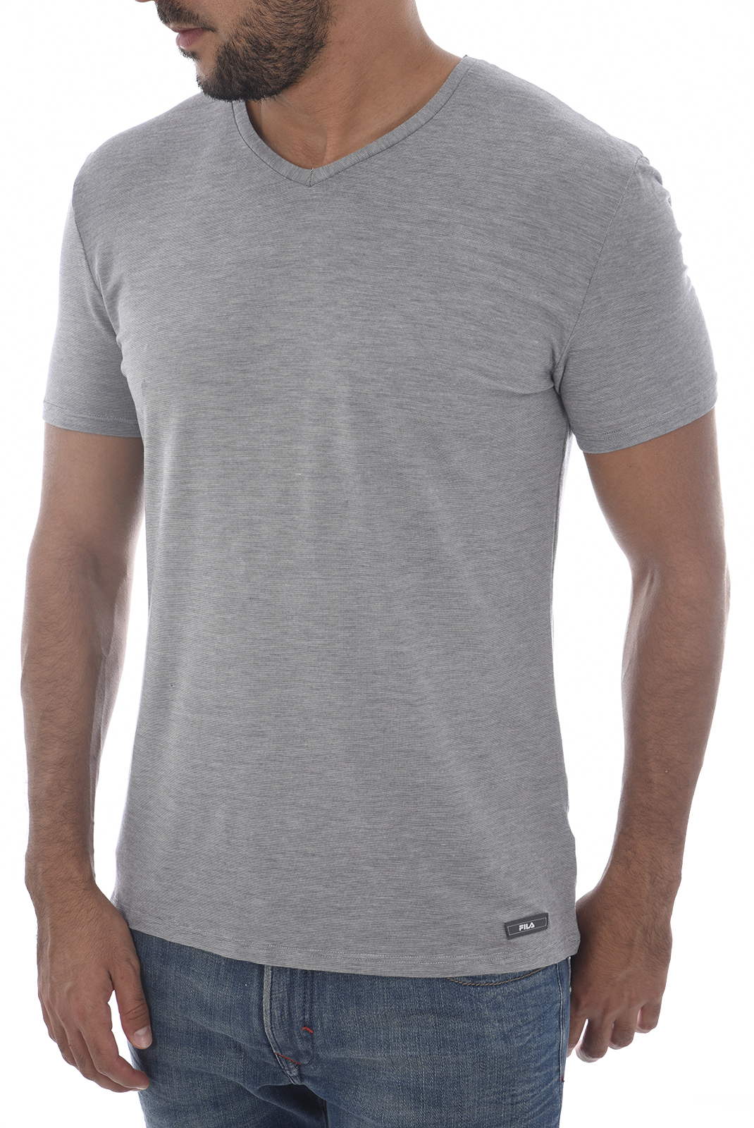 Tee-shirts  Fila F06I4 0EG-MICRO RIGATO GRIGIO