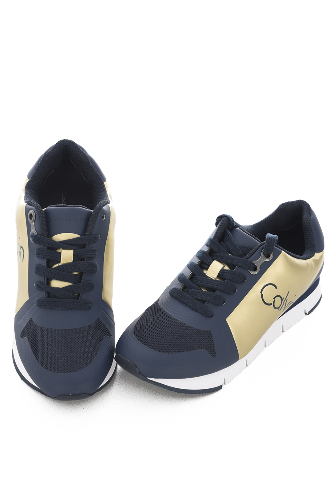 Baskets / Sneakers  Calvin klein TALINE METAL SMOOTH GOLD/INDIGO