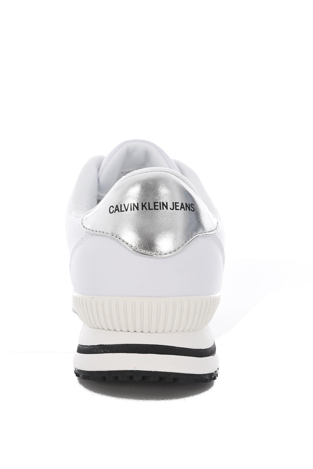 Baskets / Sneakers  Calvin klein ELWIN NYLON WHITE/SILVER