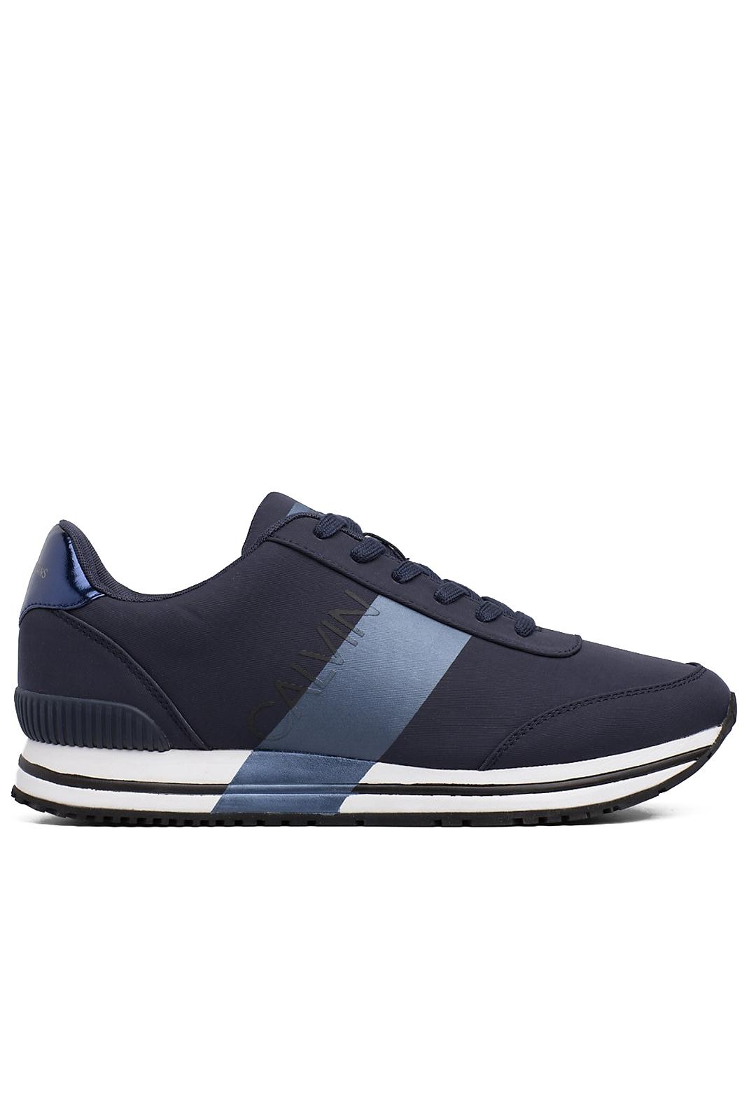 Baskets / Sneakers  Calvin klein ELWIN NYLON NAVY/METAL BLUE