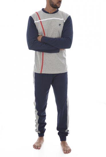Homme Grigio Pyjamas Fila 026 Peignoirs Melange F06in nw80mN