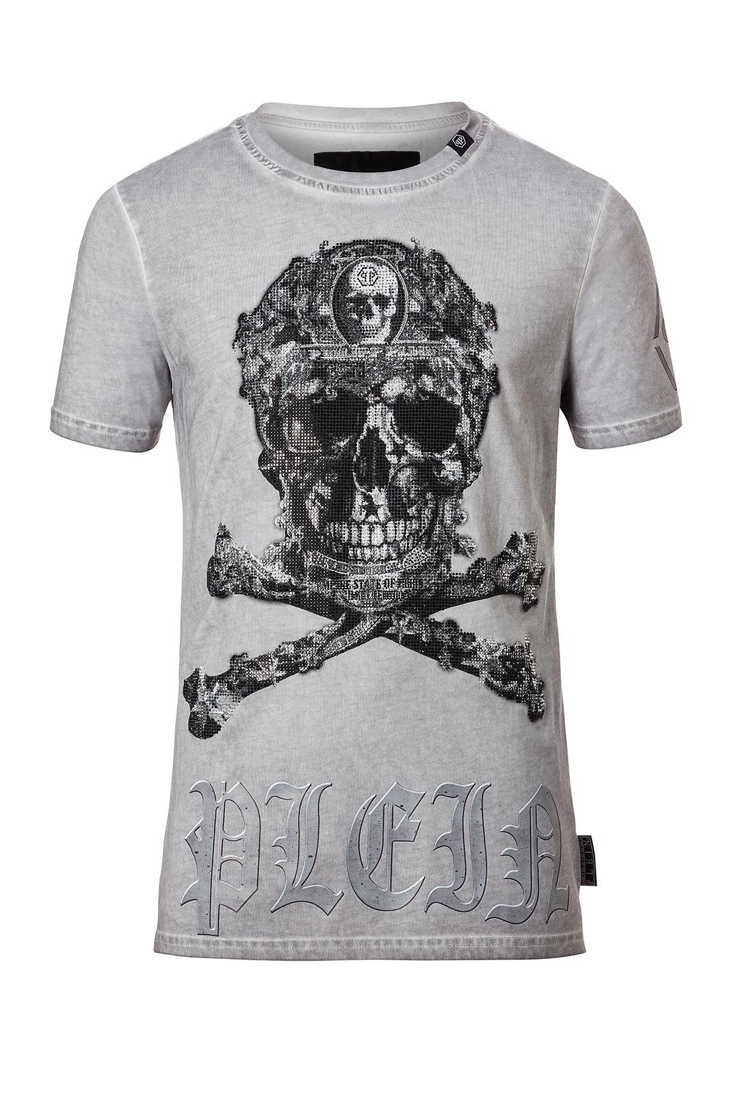 Tee-shirts  Philipp plein MTK1283 KEVIN 10 GREY