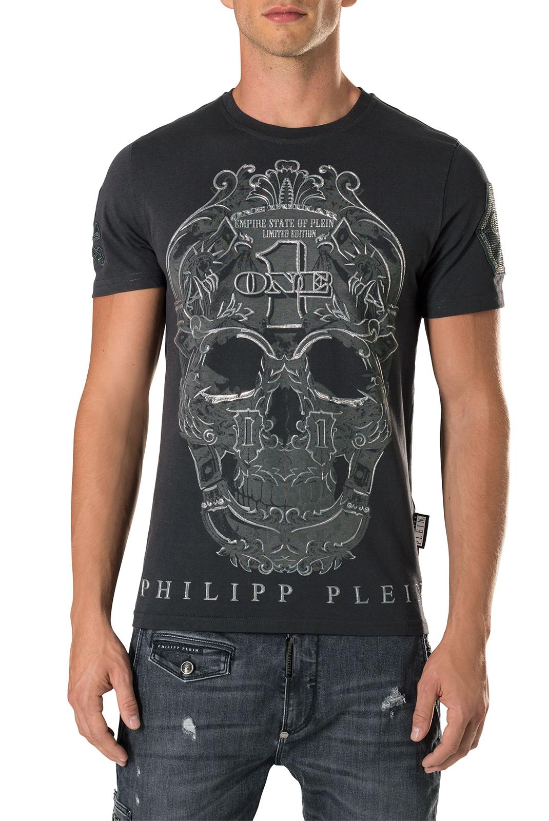 Tee-shirts  Philipp plein MTK1400 PLAY 02 BLACK