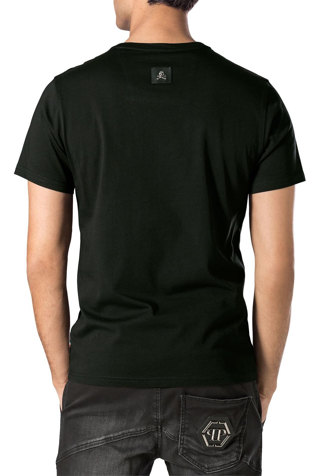 Tee-shirts  Philipp plein MTK1014 UME 0202 BLACK/BLACK