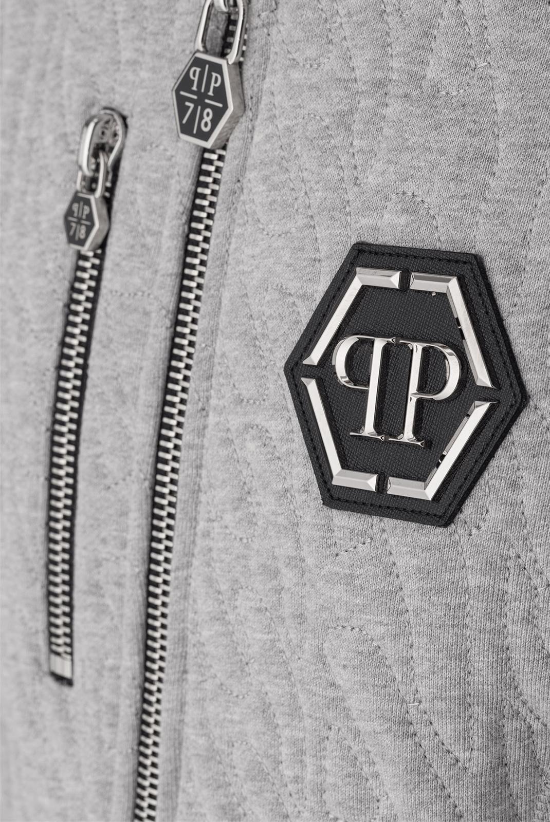 Vestes zippées  Philipp plein MJB0040 AERO 1046 GREY MELANGED