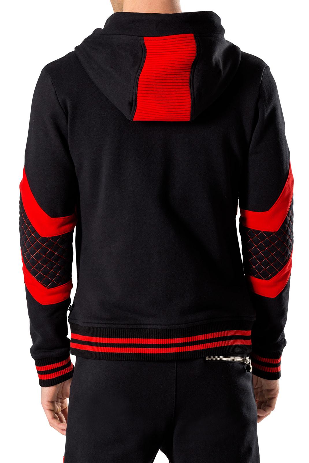 Vestes zippées  Philipp plein MJO0030 SO ONE 02R4 BLACK/RED