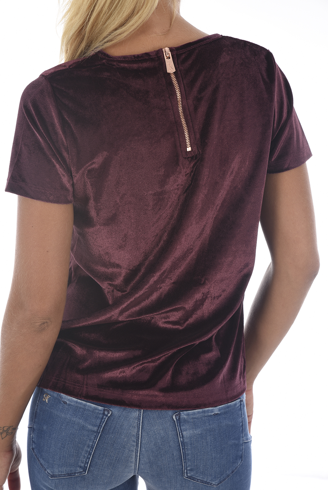 Tee shirt  Kaporal TRIO H18W11 RAISIN
