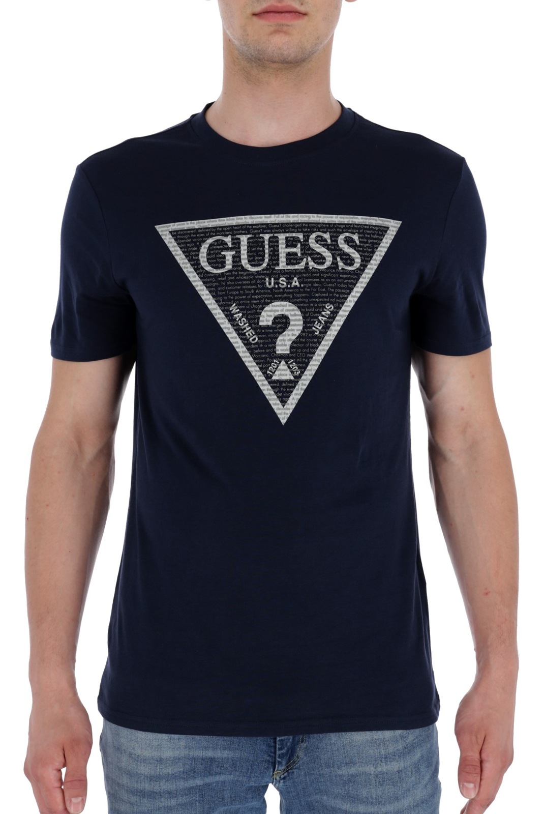 T-S manches courtes  Guess jeans M83I03 I3Z00 G720 BLUE NAVY