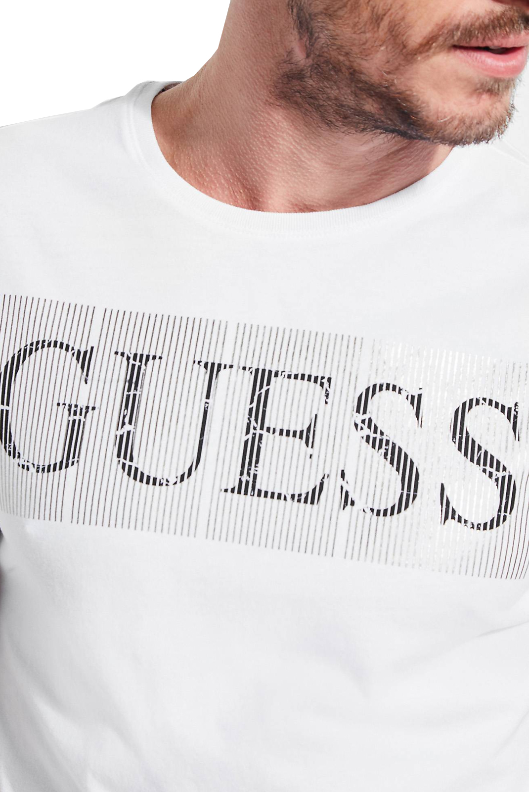 T-S manches courtes  Guess jeans M83I04 I3Z00 TWHT