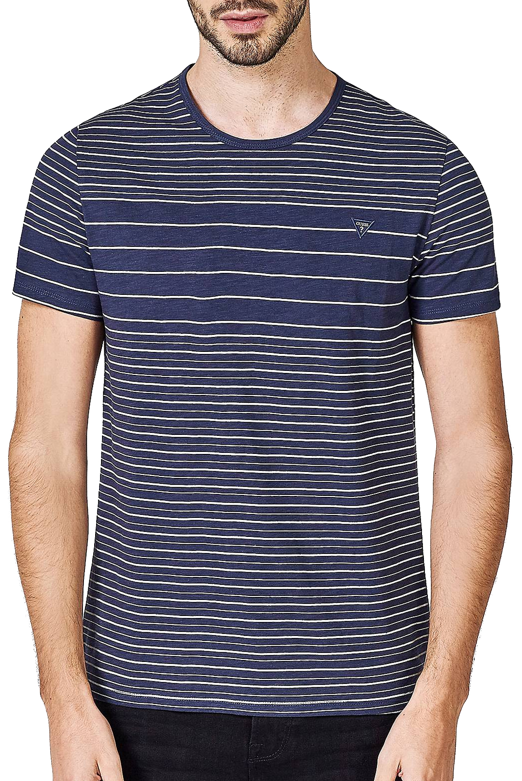 T-S manches courtes  Guess jeans M83I46 K7G80 SU79 NAVY/MIRAGE GREY