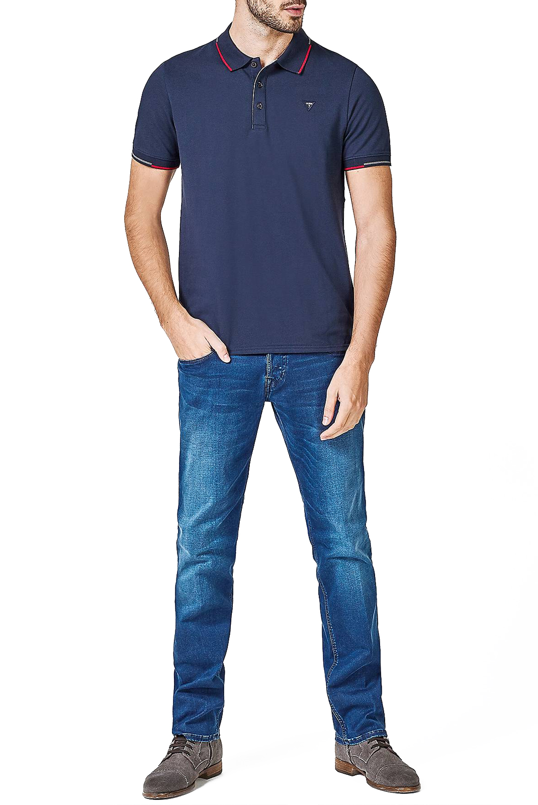 Polos  Guess jeans M83P03 K4KV0 G720 BLUE NAVY