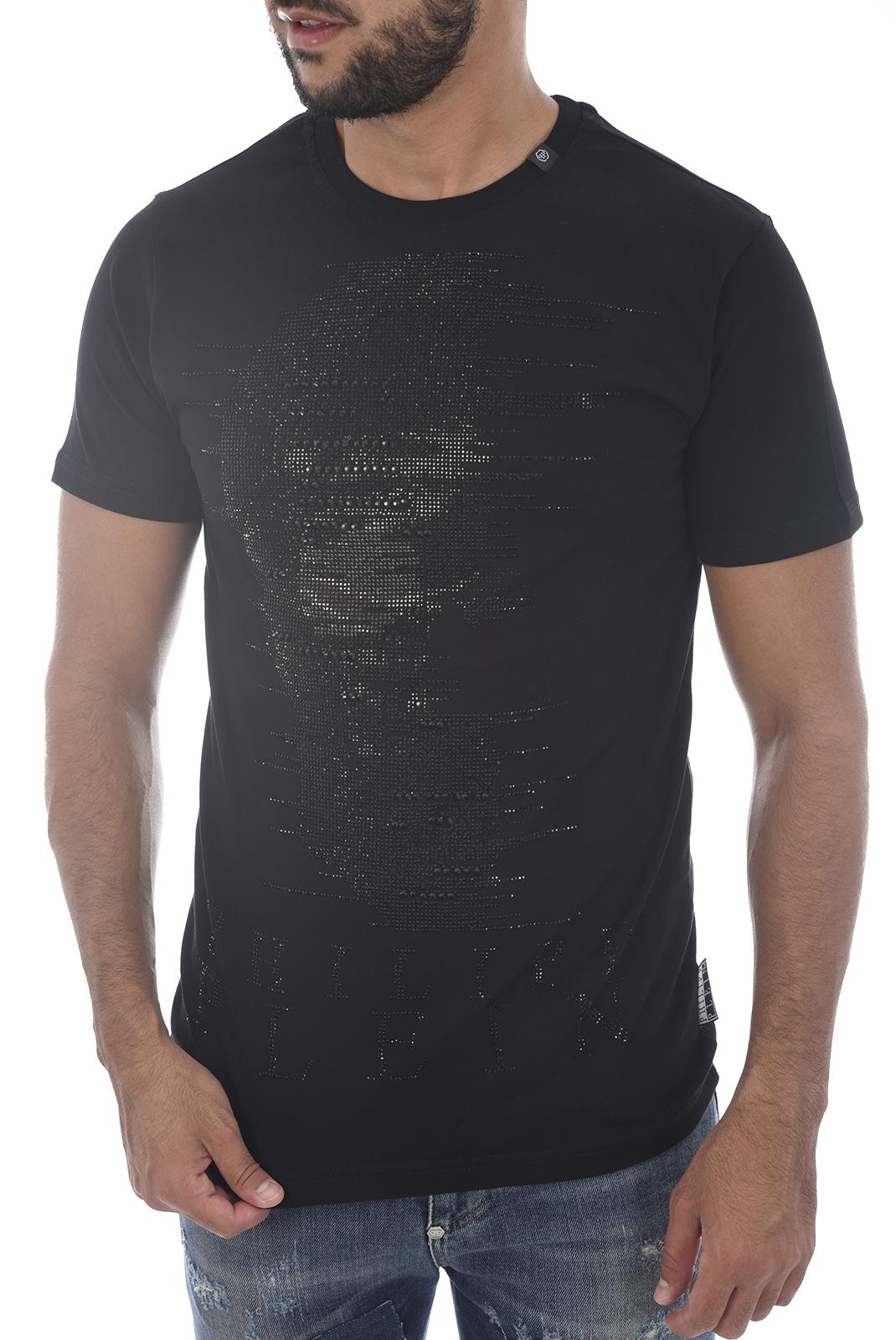 Tee-shirts  Philipp plein MTK1857 GHOST-S 0202 BLACK/BLACK