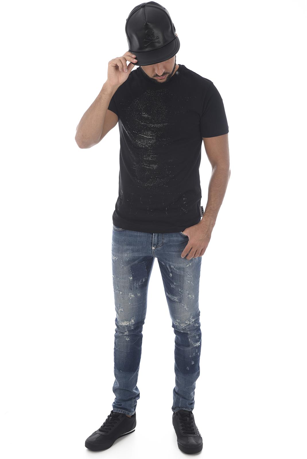 Bonnets / Casquettes  Philipp plein MAC0096 AVENTURA 02K BLACK/NICKEL