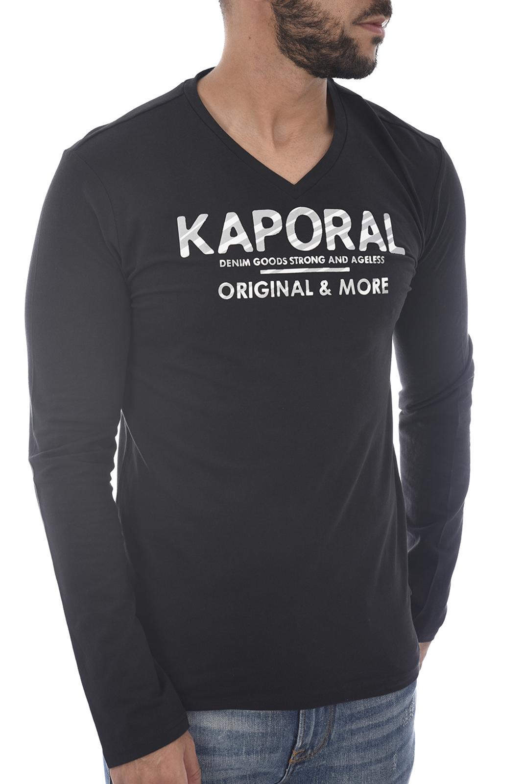 Tee-shirts  Kaporal SHINE H18M12 BLACK