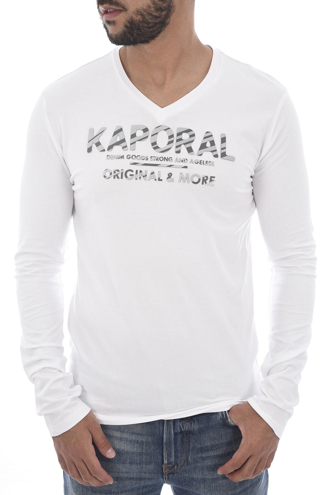 Tee-shirts  Kaporal SHINE H18M12 WHITE