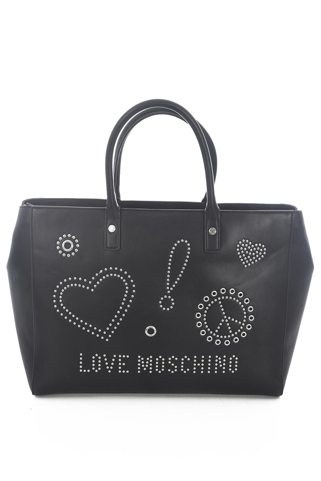 Cabas / Sacs shopping  Love Moschino JC4092PP15 BORSA CALF NERO GALV.NK