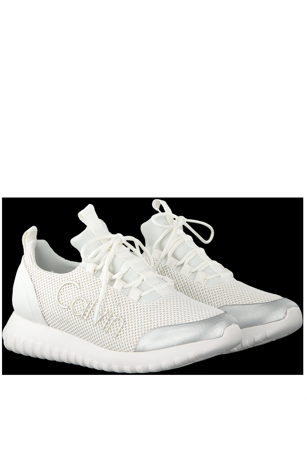 Baskets / Sneakers  Calvin klein REIKA MESH/BRUSHED METAL WHITE SILVER