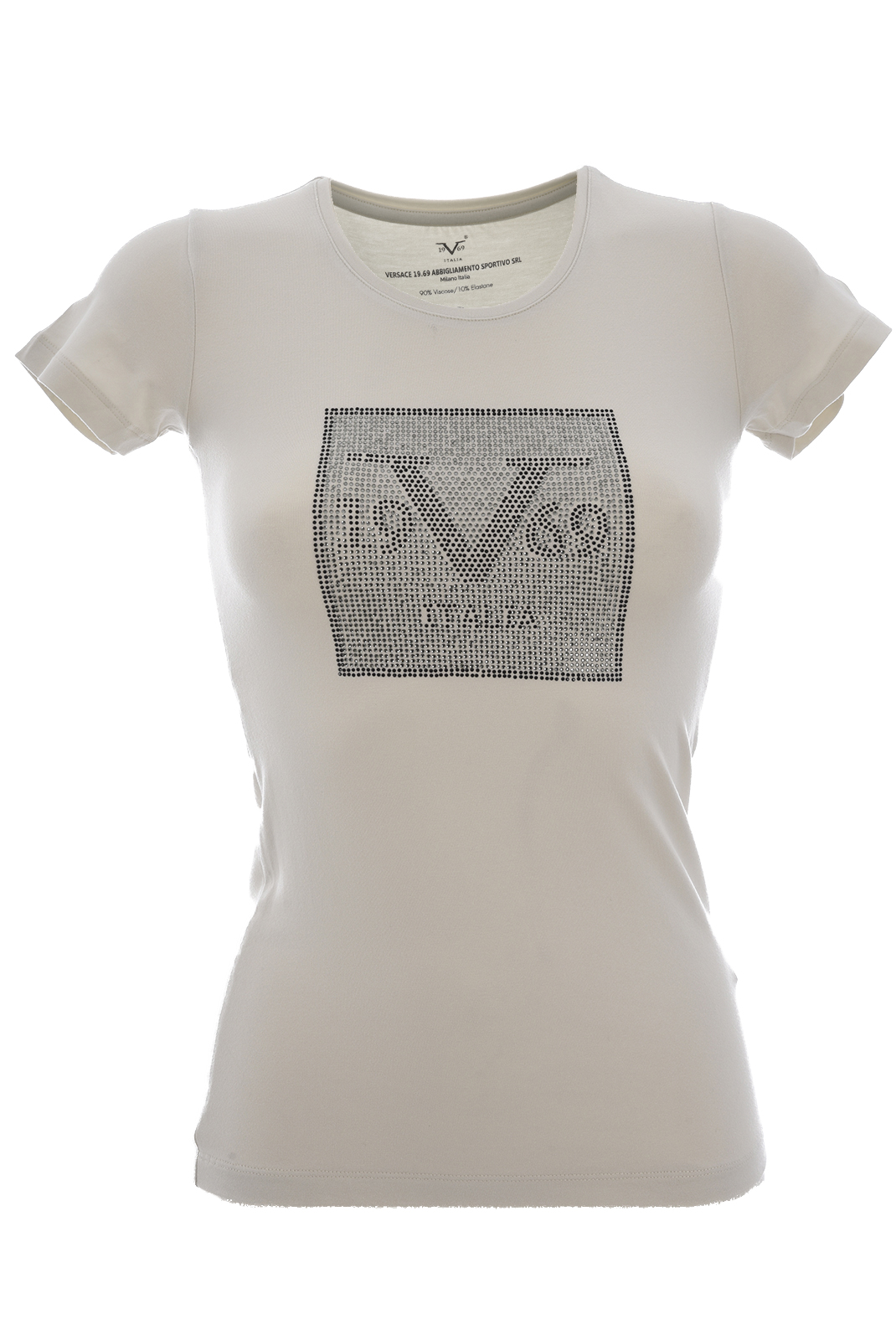 Tee shirt  19V69 by Versace 1969 CUBO LIGHT GRAY