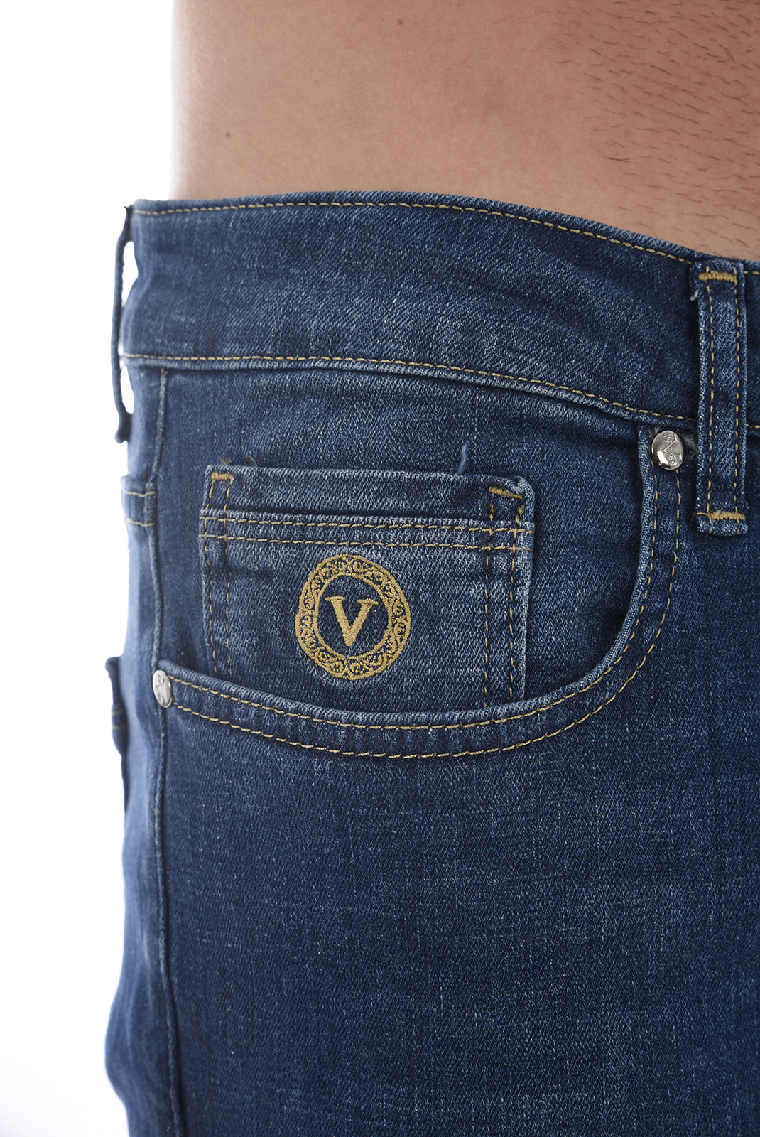 droit  V1969 by Versace 1969 ISOLA BLEU REGULAR WASH