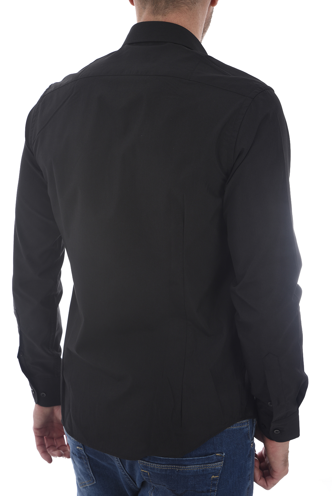 Chemises manches longues  19V69 by Versace 1969 SATIN NOIR