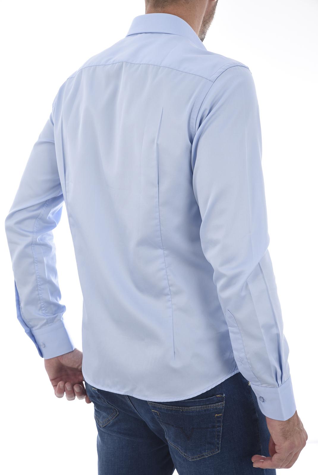 Chemises manches longues  19V69 by Versace 1969 SATIN BLEU CIEL