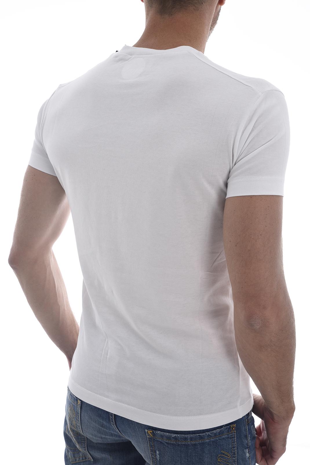 Tee-shirts  Dsquared2 S71GD0625 LION 100 BLANC