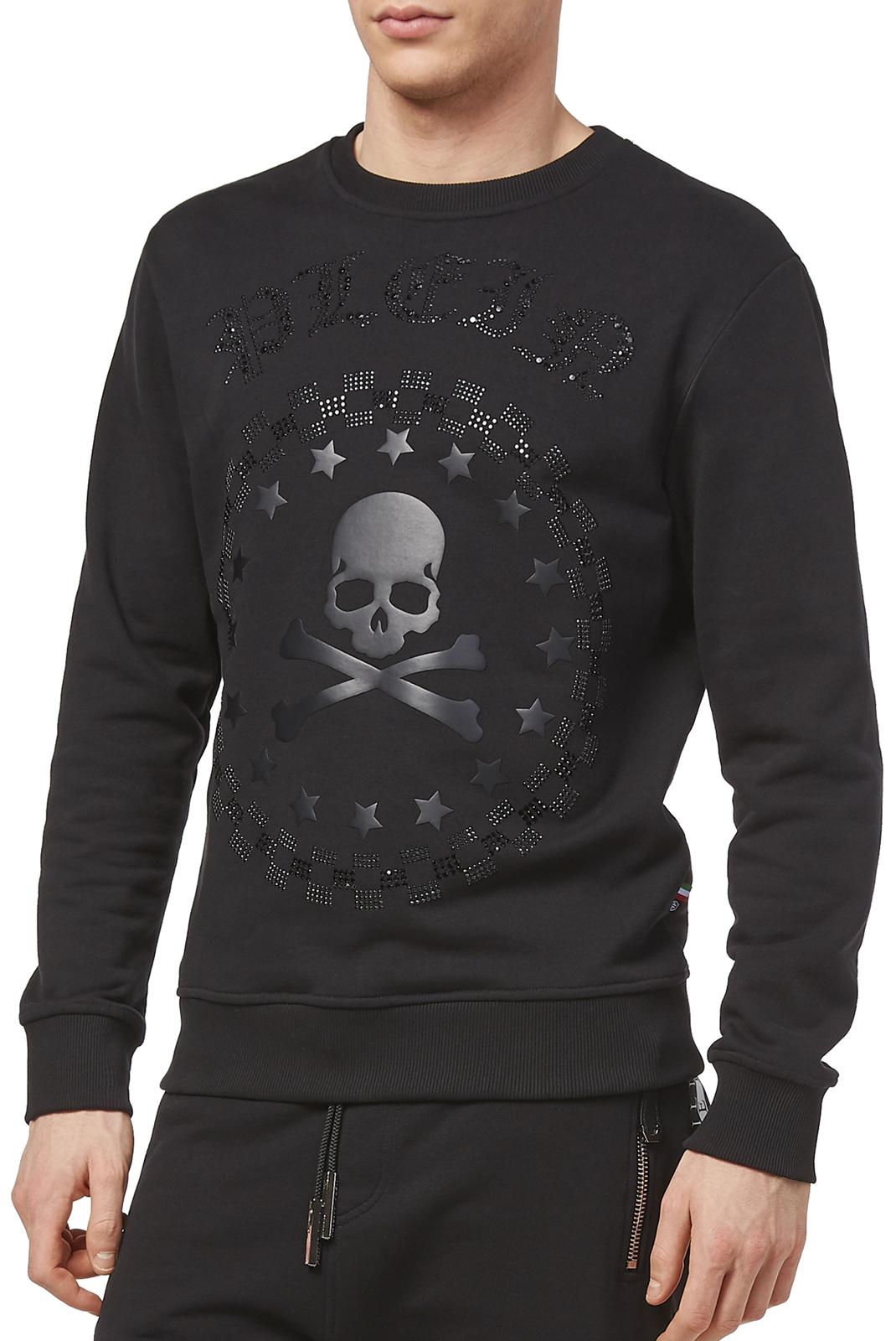 Sweatshirts  Philipp plein P18C MJO0333 BULLET 0202 BLACK/BLACK
