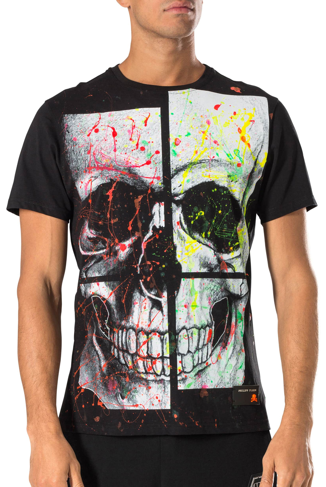 Tee-shirts  Philipp plein S18C MTK1802 HARD 02 BLACK