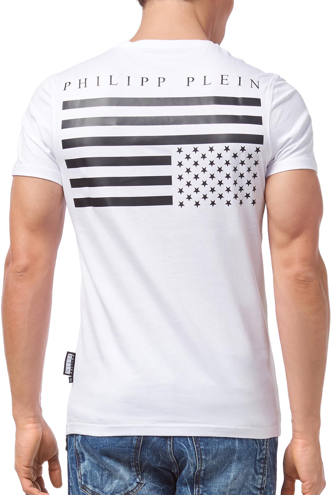 Tee-shirts  Philipp plein A17C MTK1403 LOVE 01 WHITE