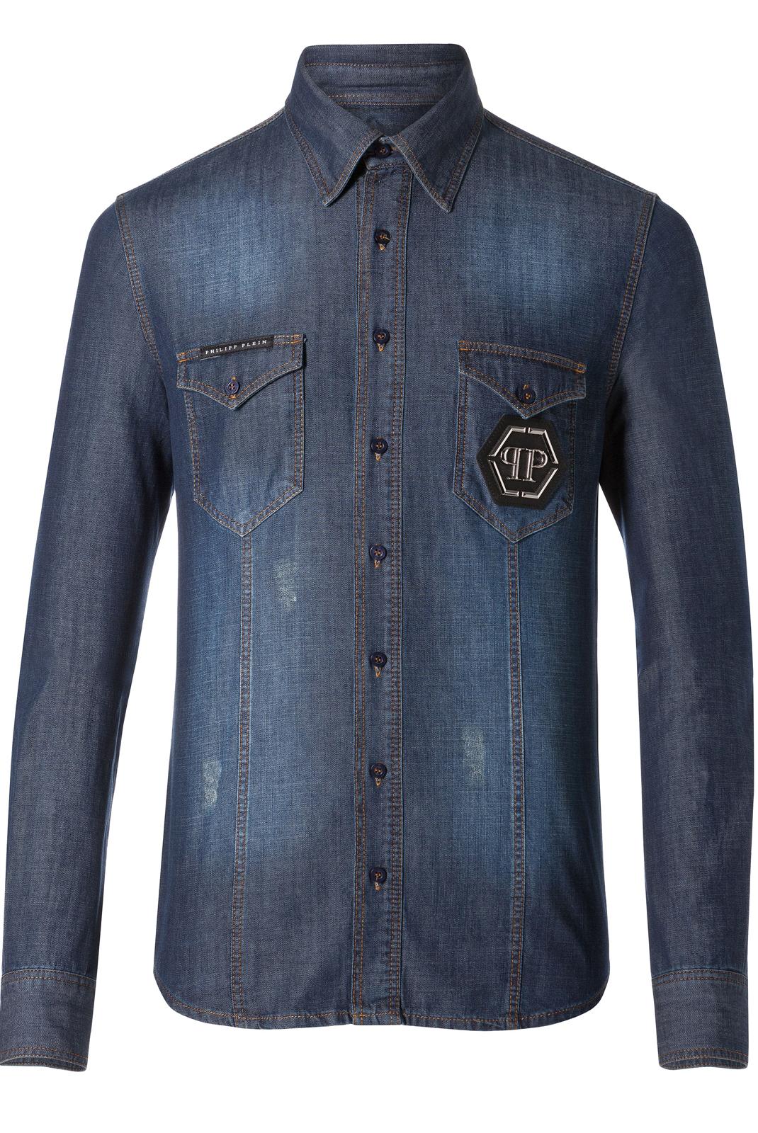 Chemises manches longues  Philipp plein MDP0036 FULL 14SE JEANS
