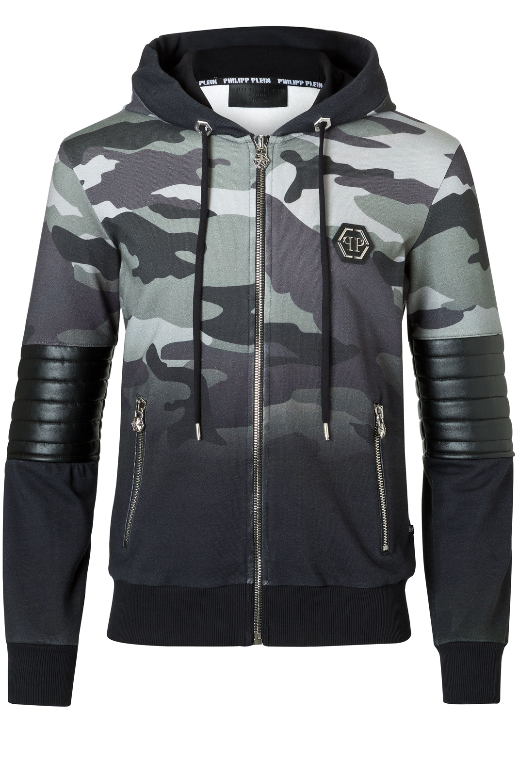Vestes zippées  Philipp plein F17C MJB0110 RAIDEN CM99 CAMOU BLACK