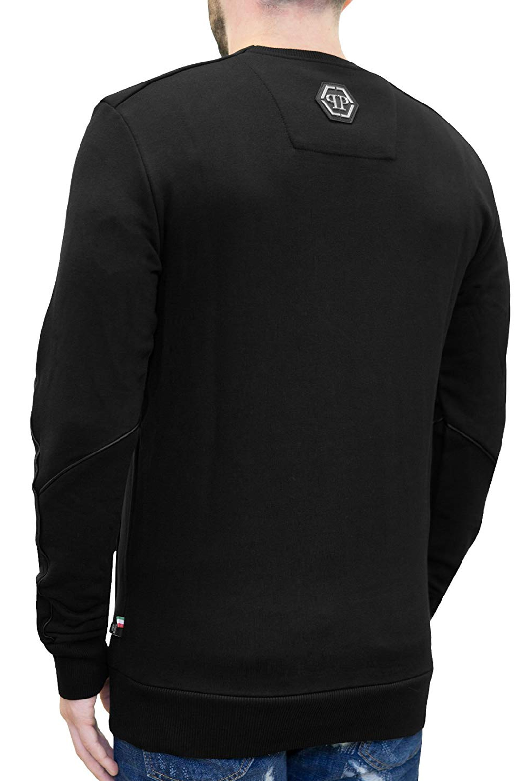 Sweatshirts  Philipp plein S18C MJO0263 SLEEPING 02 BLACK