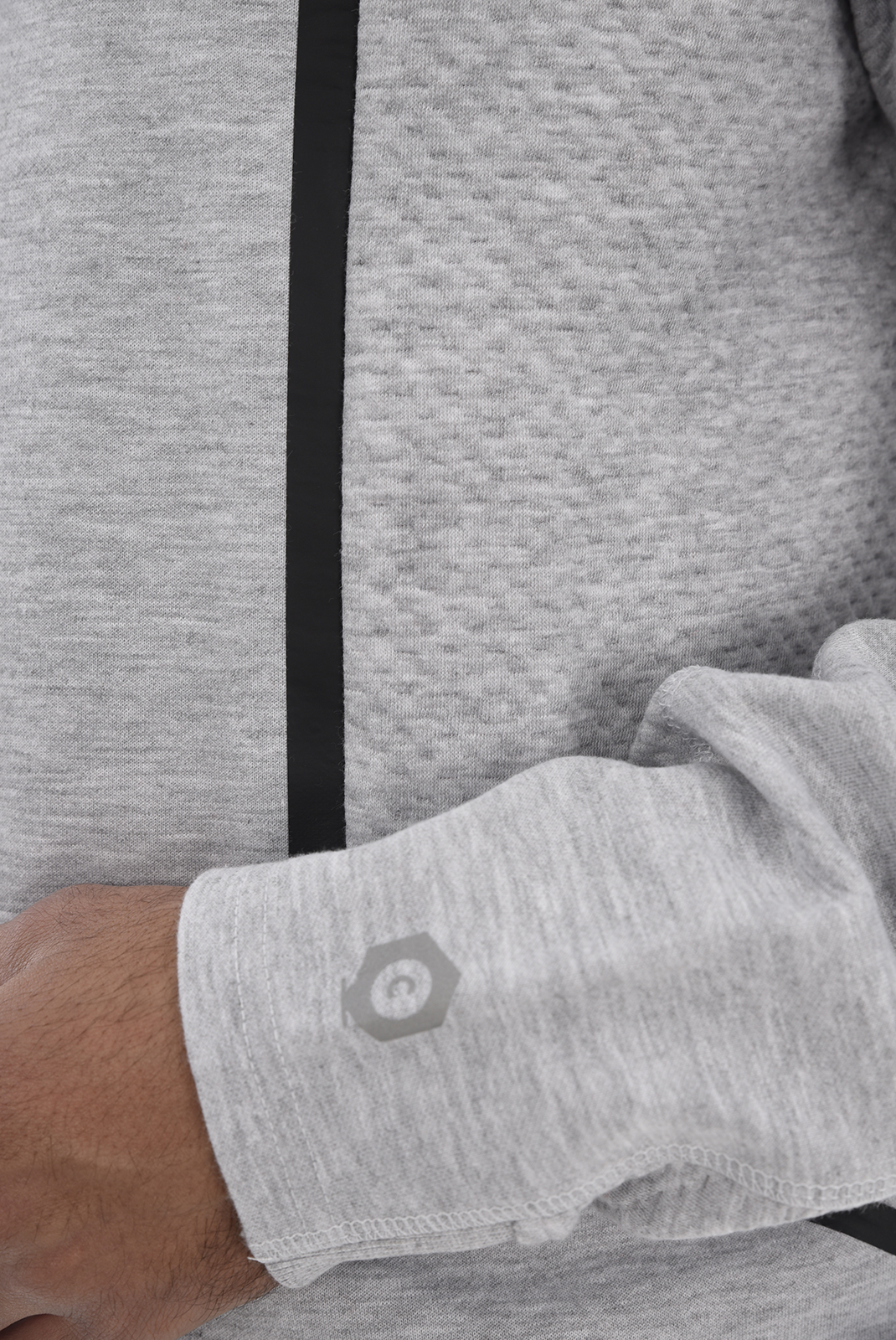 Sweatshirts  Jack & Jones BOCK SWEAT HOOD Light Grey Melange