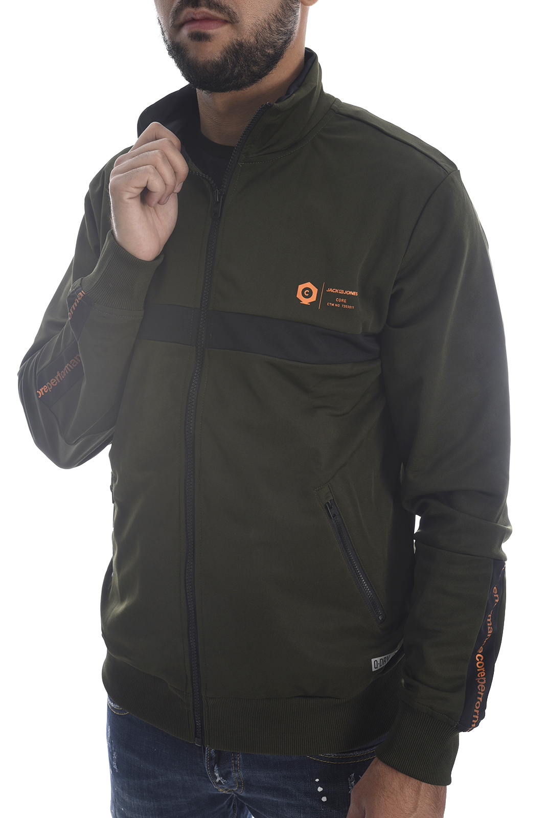 Vestes zippées  Jack & Jones BOEING TURTLE ZIP Rosin