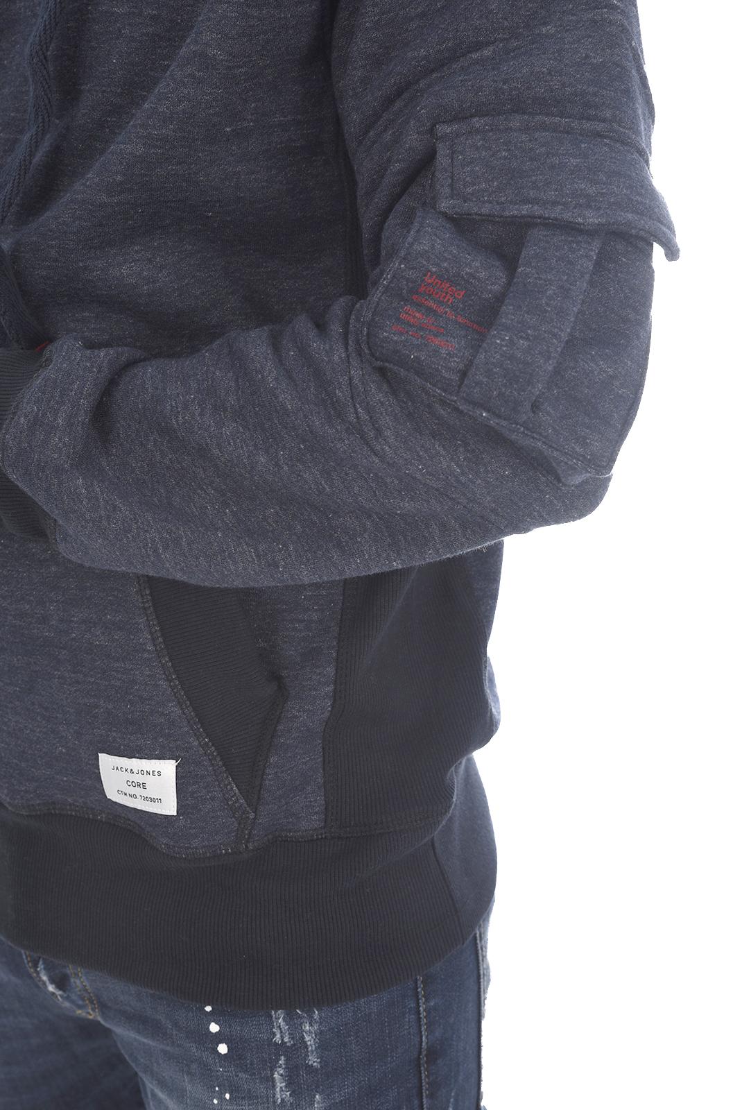Sweatshirts  Jack & Jones LEO SWEAT HIGH Sky Captain