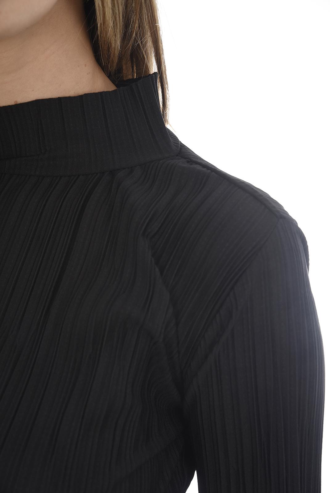 Top   Vero moda PLIS HIGH NECK L/S TOP SB2 BLACK
