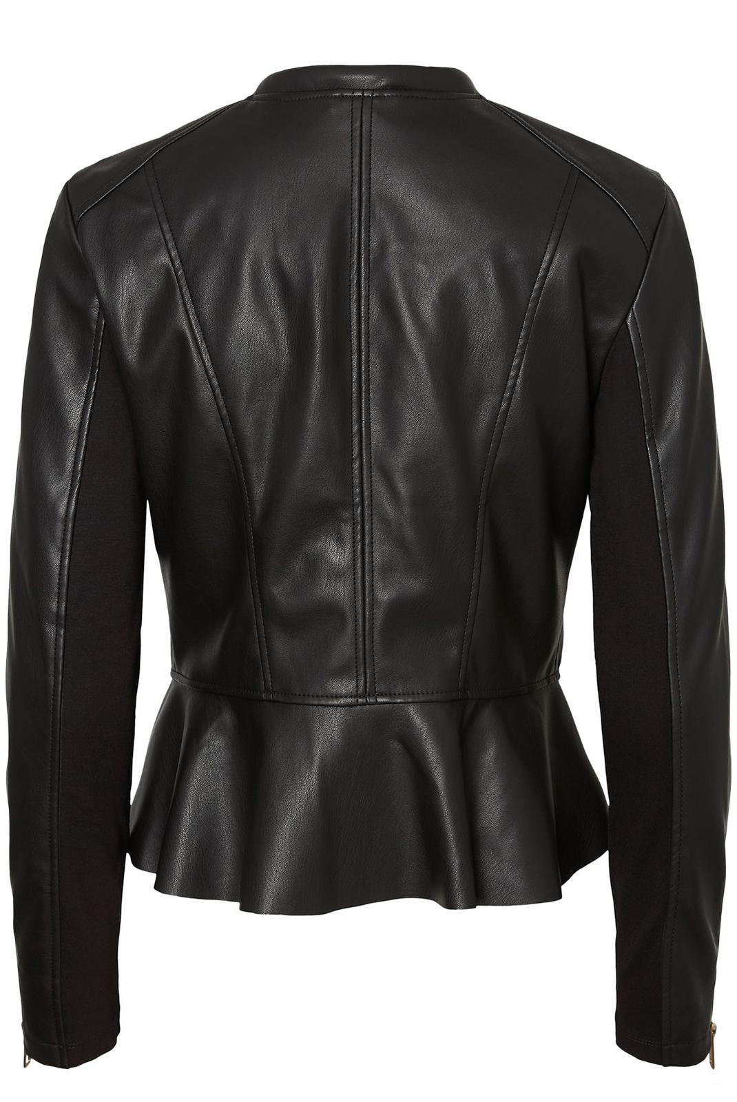 Vestes & blousons  Vero moda ELLIS BUTTER SHORT FAUX LEATHER JACKET Black