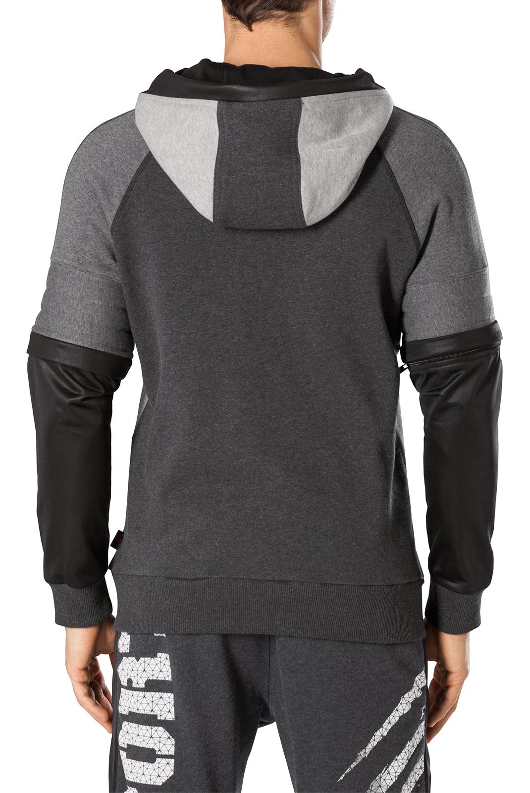 Vestes zippées  Plein Sport MJB0078 CREED 1002 GREY/BLACK