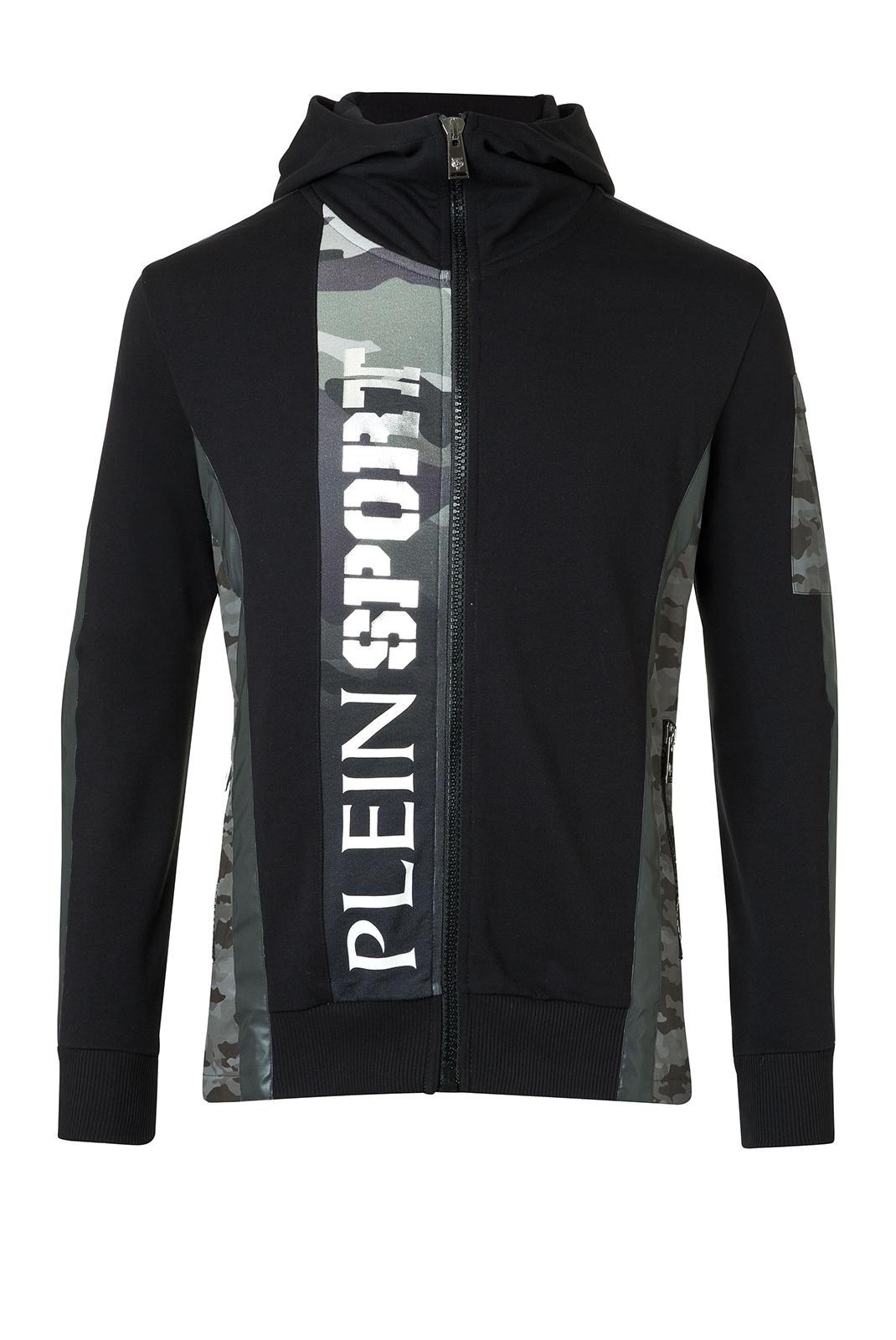 Vestes zippées  Plein Sport MJB0113 SILVER 0210 BLACK/SILVER