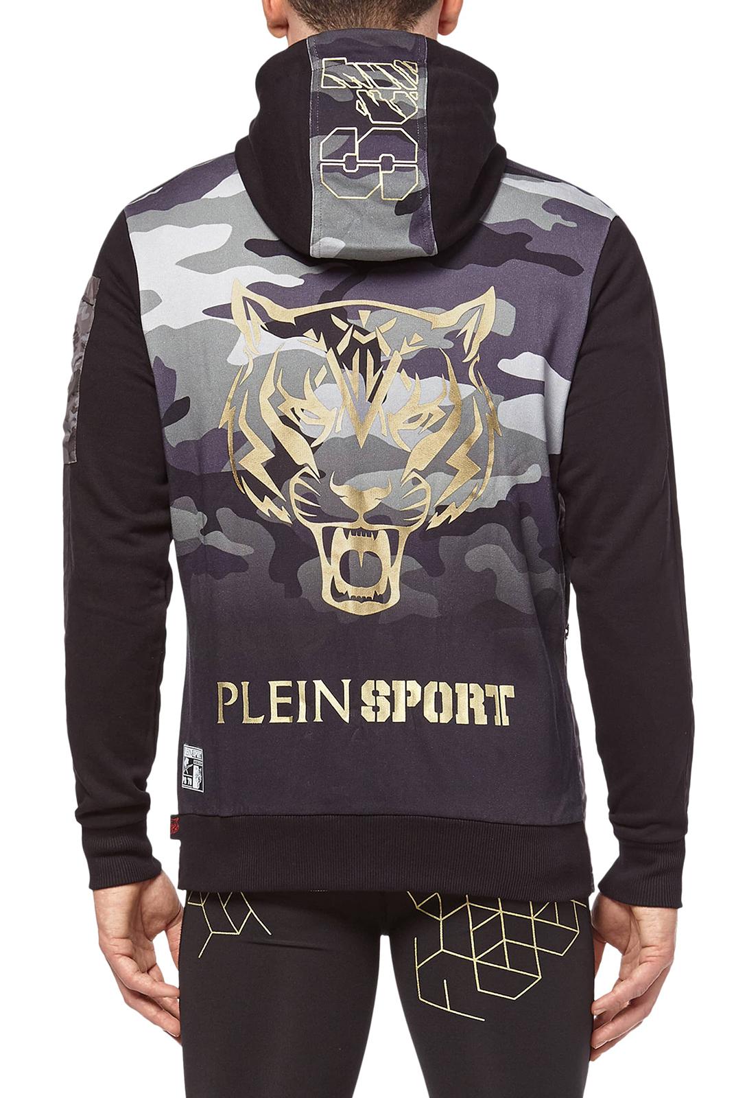 Vestes zippées  Plein Sport MJB0113 SILVER 02L BLACK/LIGHT GOLD