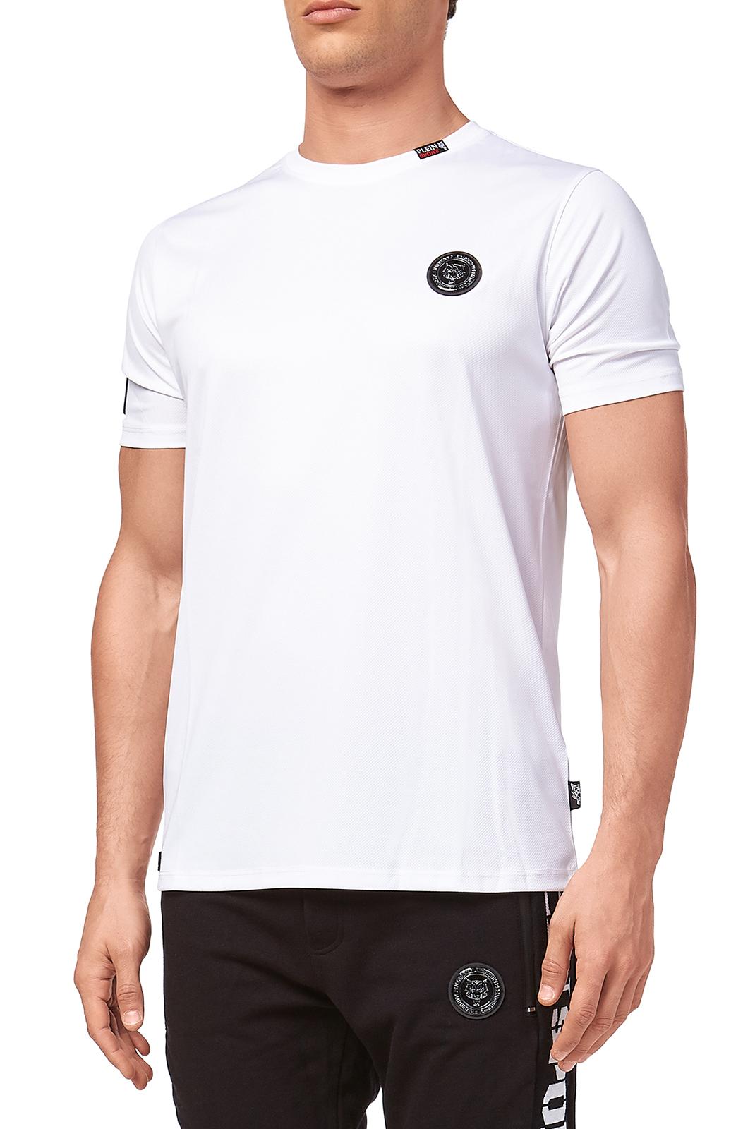 Tee-shirts  Plein Sport MTK2108 LUKA 01 WHITE