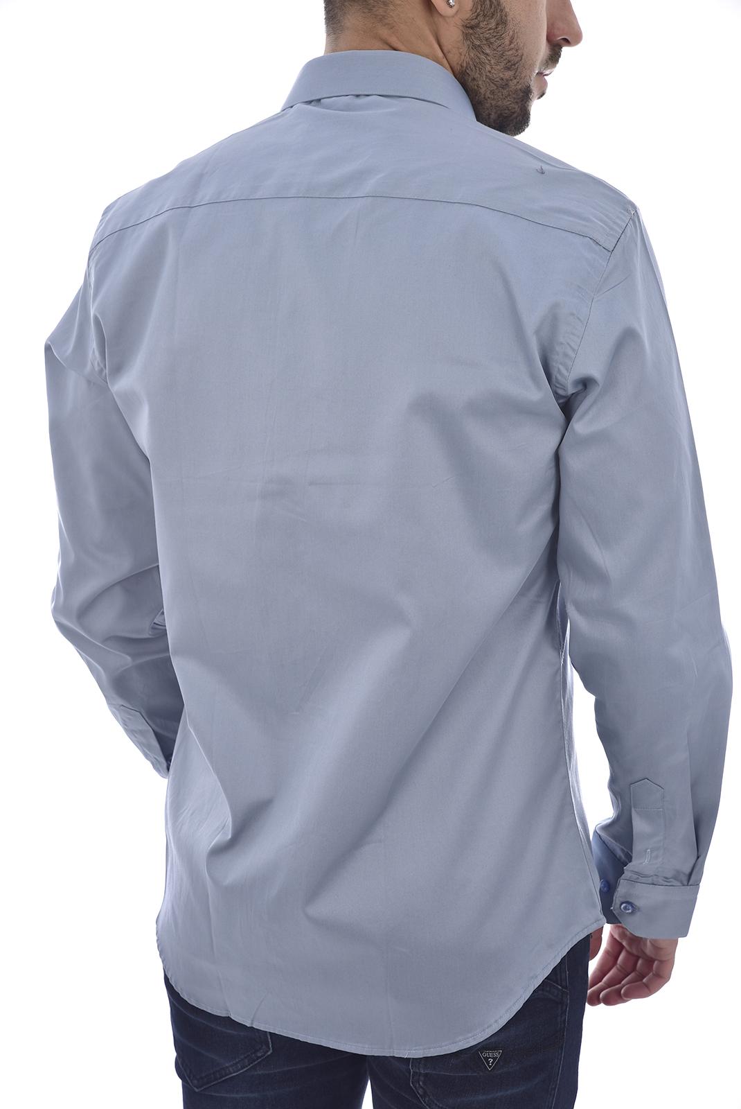 Chemises manches longues  KoW AARON'S BLEU GRIS
