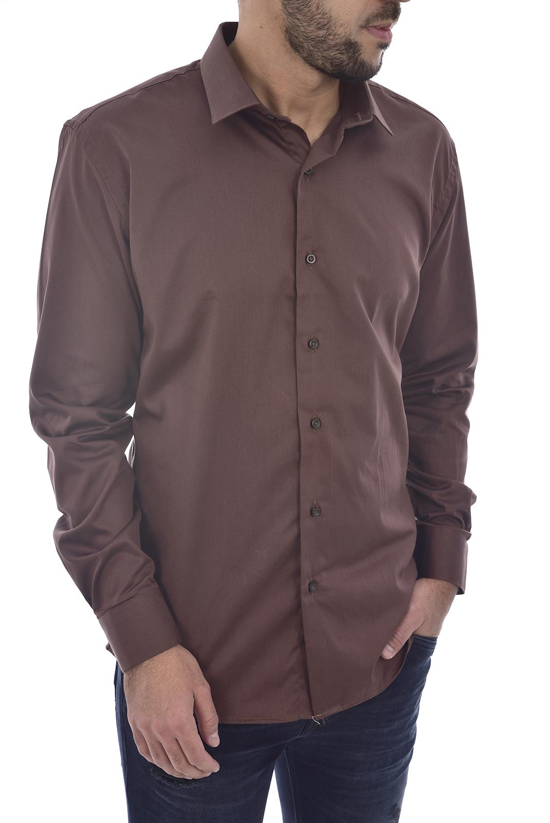 Chemises manches longues  KoW AARON'S CHOCO