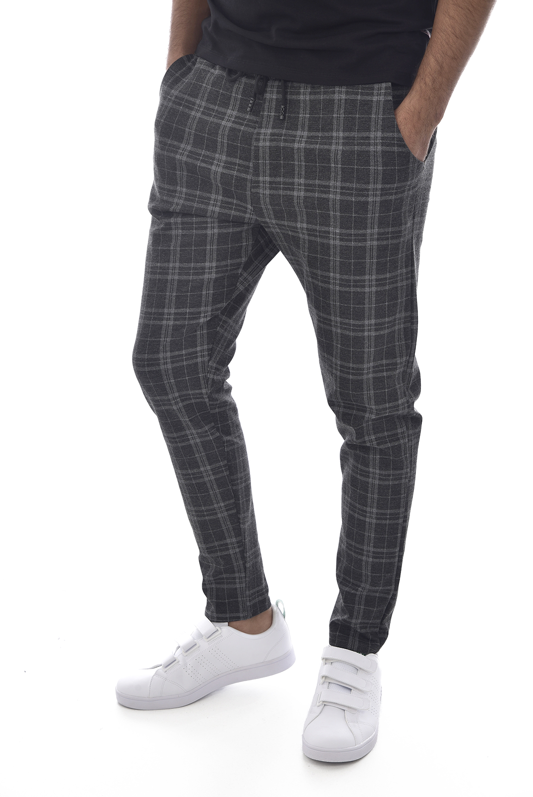 Pantalons sport/streetwear  Made in Italy TM0003.12 GRIS ANTHRACITE GRIS CLAIR