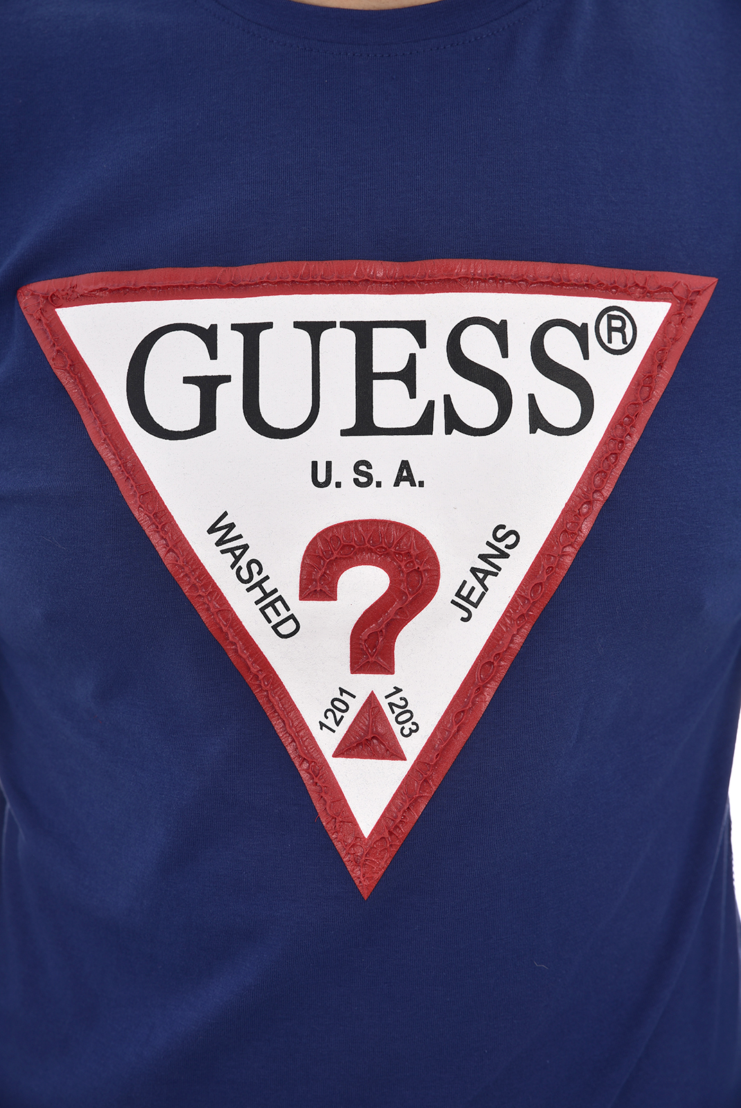 Tee-shirts  Guess jeans M84I17 J1300 G7M9 MANOR BLUE