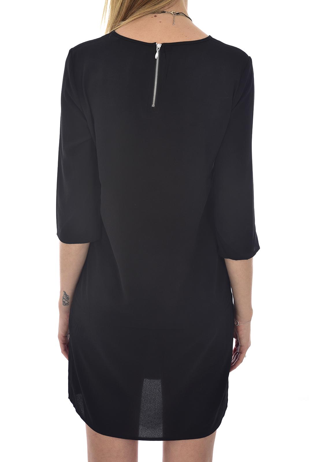 FEMME  Only VIC 3/4 SOLID DRESS NOOS WVN Black