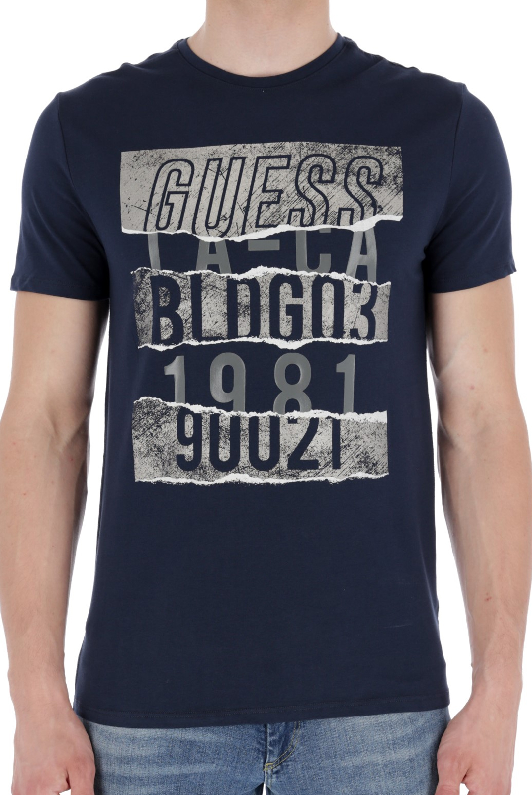 T-S manches courtes  Guess jeans M83I18 J1300 G720 BLUE NAVY