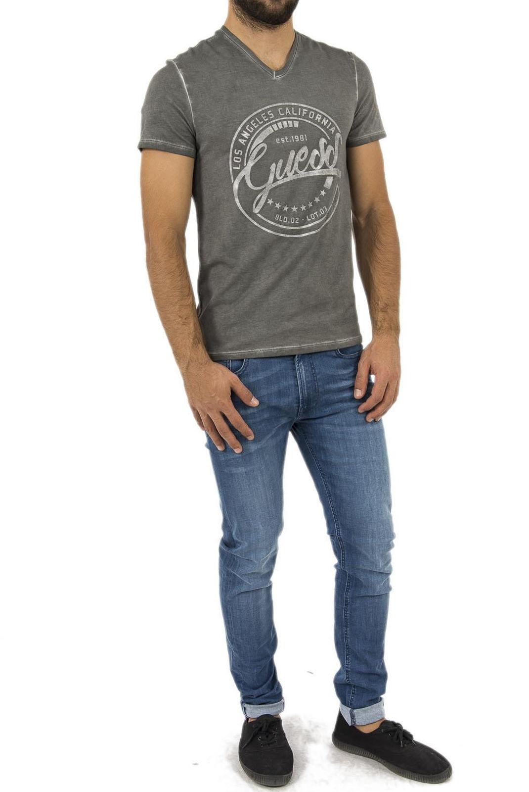 Tee-shirts  Guess jeans M83I25 J1300 F9U6 TUXEDO GREY